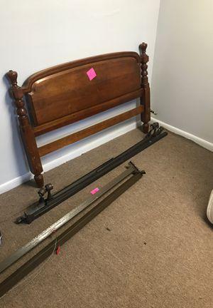 Headboard, mattress, box spring, metal bed frames for Sale in Piscataway, NJ