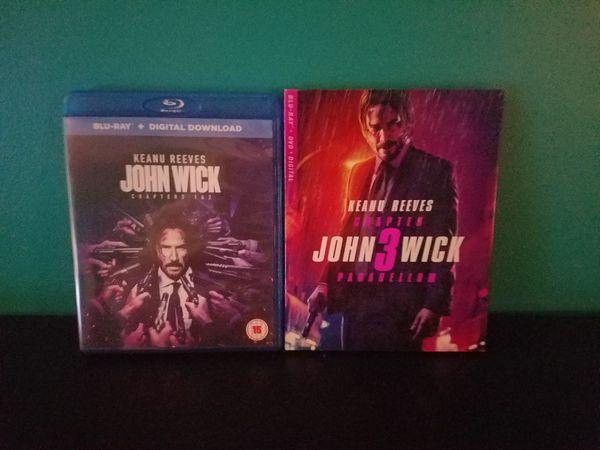 John Wick 1-3 Blu-ray Movies.