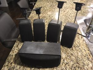 Polk Audio surround speakers with ceiling mounts. $120 obo. for Sale in Austin, TX