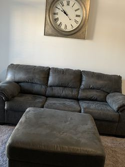 Sleeper Sofa With Ottoman And Wall Clock for Sale in Duluth,  GA