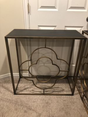 Gorgeous Aged Gold & Black Decorative Entry/Sofa Table! for Sale in Sandy, UT