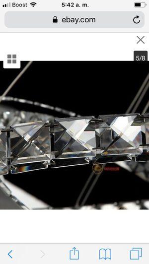 Modern Chandelier LED K9 Crystal Ceiling Light Foyer Pendant Lamp Rings Lighting price firm $120 for Sale in Hayward, CA