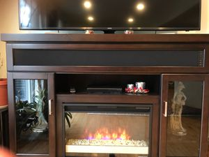 Fireplace TV stand. for Sale in NO POTOMAC, MD