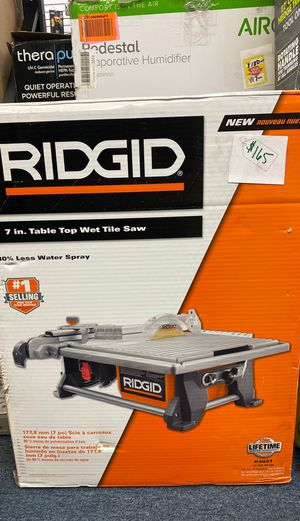 """Rigid 7"""" Table Top Wet Tile Saw for Sale in Apple Valley, CA"""