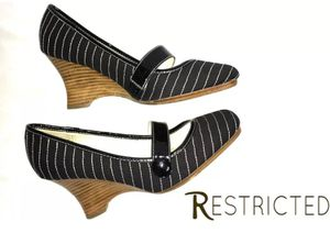 Restricted Slip On Wedges Fabric Stripe Shoes SZ 8 for Sale in Boca Raton, FL