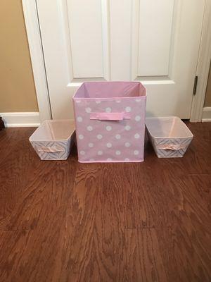 Pink storage bins for Sale in Evansville, IN