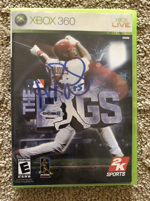 *Very Rare* Xbox 360 game signed by Albert Pujols for Sale in Sappington, MO