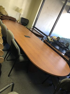 12 foot conference table with power for Sale in Atlanta, GA