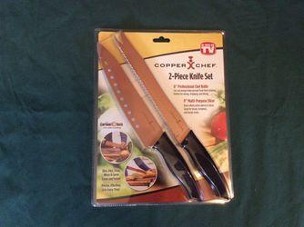 Copper Chef 2-piece knife set for Sale in Cairo,  GA