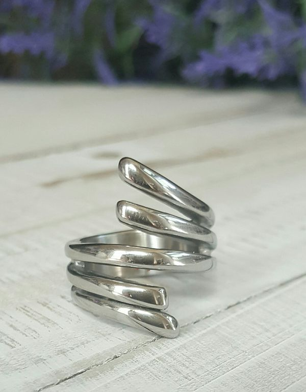 Angel Wings Design Stainless Steel Ring(Size 8 Available Locally)