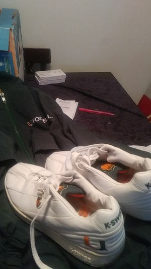 University Miami large sweatshirt with K-Swiss University of Miami tennis shoes for Sale in Orlando, FL