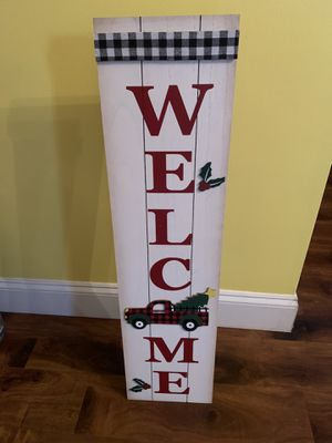 Christmas Welcome Sign for Sale in Clayton, NC