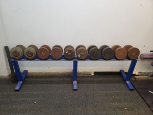 York round head ivanko pro style dumbbells for Sale in North Bethesda, MD