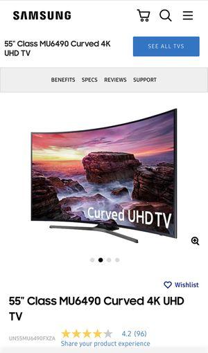 "Samsung Curved 55"" 4K Tv for Sale in Redmond, WA"