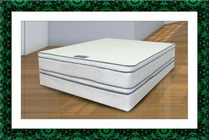Queen mattress double pillowtop with free box spring and shipping for Sale in Crofton, MD