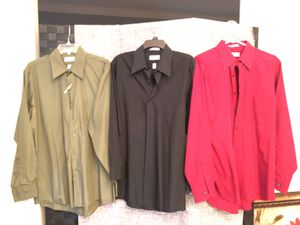 Men's large Van Heusen button down shirts for Sale in Beaumont, TX