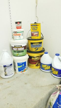 Adhesives, bleach, patcher and Plumbers putty for Sale in Austin,  TX