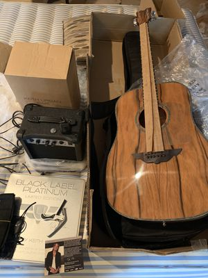 Brand new Keith Urban electric acoustic guitar with amplifier 30 day 30 songs platinum disc set Christmas 🎄 for Sale in Plant City, FL