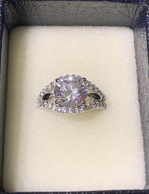 Large Multi-stone CZ Sterling Silver Ring for Sale in Lake Wales, FL