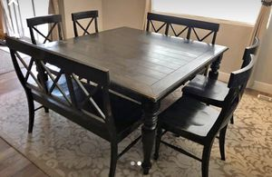 Farmhouse style kitchen table pub height for Sale in Salt Lake City, UT