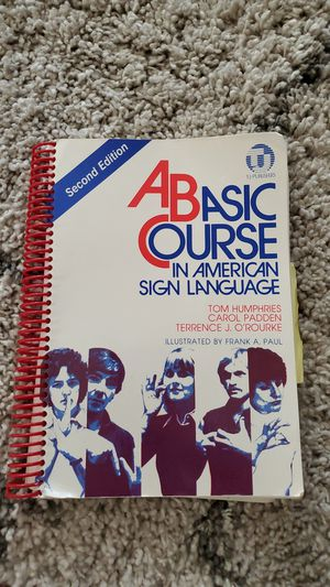 A basic course in ASL- college text for Sale in Castro Valley, CA