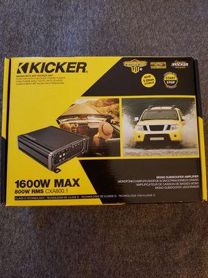 2019 - Kicker CXA 800.1 Amplifier [Firm on Price] for Sale in Phoenix, AZ