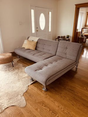 L-Couch Futon & Chaise Set for Sale in Los Angeles, CA