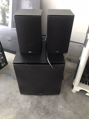 Polk Audio Surround sub & speakers for Sale in Yorktown, VA