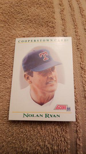 1991 Score Nolan Ryan coppertown baseball card for Sale in Millersville, MD