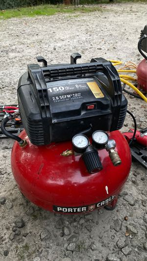 6 gal Porter cable air compressor 150 psi for Sale in Auburn, GA