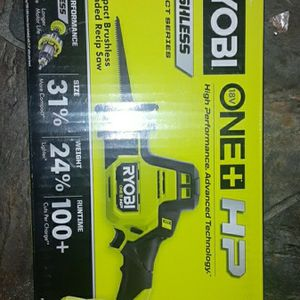 Ryobi One Plus Hp Brushless One Handed Reciprocating Saw for Sale in Sumner, WA