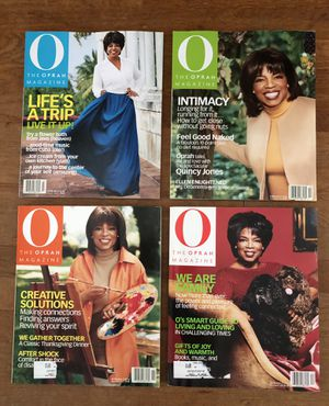 2001 Oprah Magazines: July, October, November, December for Sale in Long Beach, CA