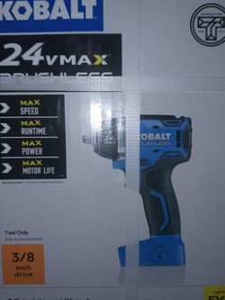 Kobalt 24V Max Brushless Impact Wrench for Sale in Saint Charles,  MO