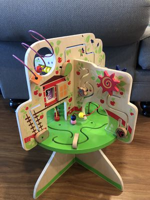 Kids toy tree top activity play game made of wood for Sale in Los Angeles, CA