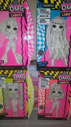 4 New lol Omg Lights dolls for Sale in Clovis, CA