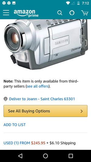 Samsung mini camcorder two tapes complete set with carrying case for Sale in O'Fallon, MO