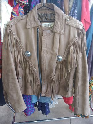 Open Road men's Medium M fringe leather jacket Joe Exotic for Sale in La Puente, CA