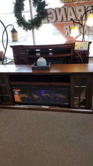 74in electric fireplace heater console new but has some scratches for Sale in Bakersfield, CA