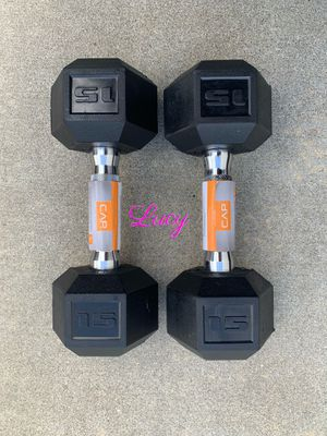 CAP Barbell Coated Hex 15 lbs Dumbbell set for Sale in West Covina, CA