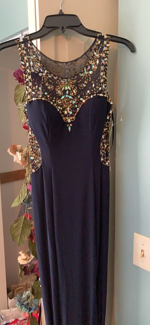 Size 2 navy and peach inside prom dress for Sale in Chattanooga, TN