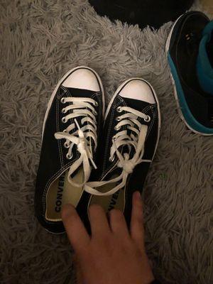 Original black and white converse size 8 womens 6 men for Sale in Sacramento, CA