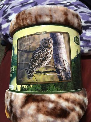 Majestic Barred Owl Royal Plush Raschel Throw for Sale in Harrisburg, SD