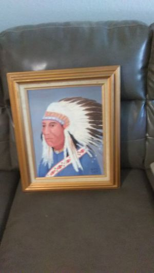 Oil painting of Indian Chief for Sale in Wichita, KS
