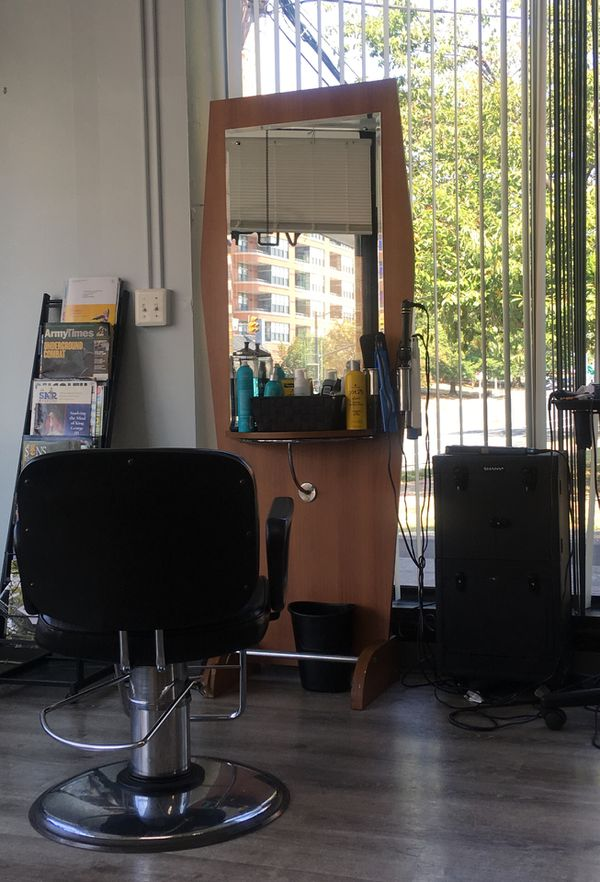 Hair salon station