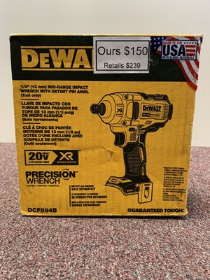 """New 20v Dewalt 1/2"""" brushless impact wrench - 600 ft lbs torque - DCF894B for Sale in Waltham, MA"""