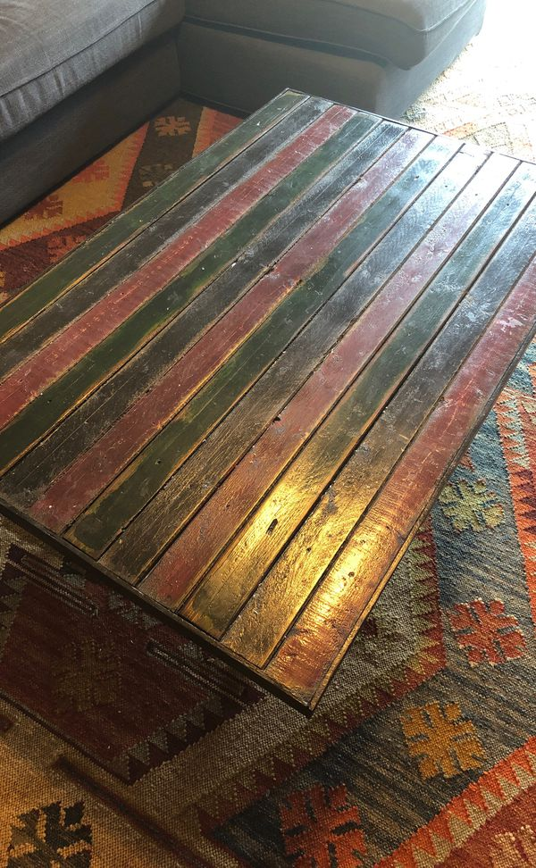 Rustic handmade coffee table