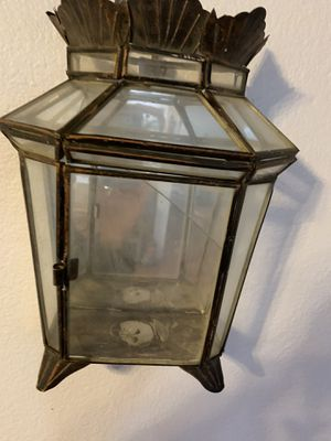 Antique wall hanging mirrored curio display case for Sale in Hemet, CA