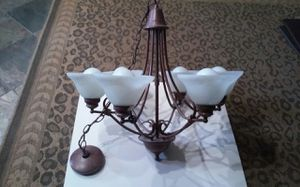 Chandelier in rubbed bronze 6 bulb for Sale in Mesa, AZ