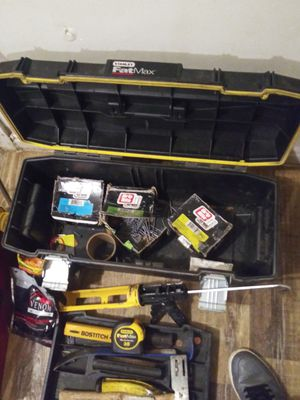 Miscellanious tools nails and tool box for Sale in Wichita, KS