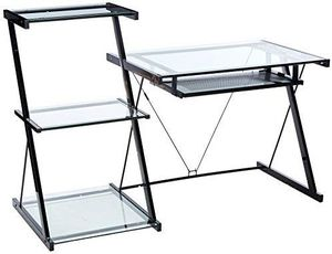 Computer Desk - Metal and Glass - Great Condition!!! for Sale in Vallejo, CA